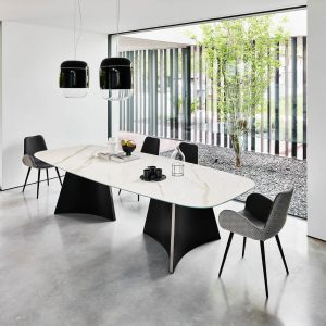 concave tavoli - mese dining moderne